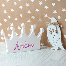 Load image into Gallery viewer, Princess Crown Wooden Decor