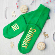 Load image into Gallery viewer, Adult Emerald & Canary Christmas Socks