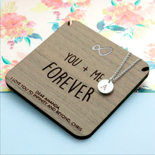 Load image into Gallery viewer, Infinity Necklace & Keepsake