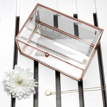 Load image into Gallery viewer, Rose Gold Glass Jewellery Box
