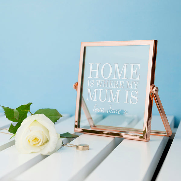 Home is... Rose Gold Frame