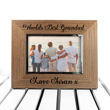 Load image into Gallery viewer, World's Best Grandad Walnut Frame
