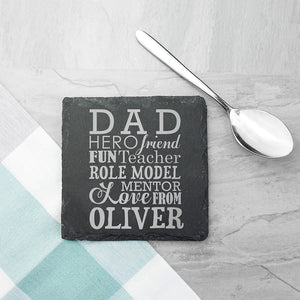 What Dad Means Slate Keepsake