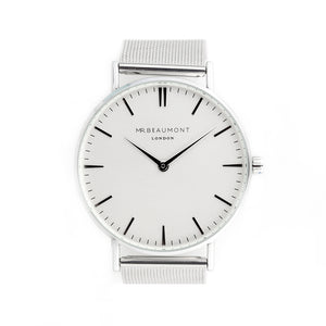 Men's Silver Metallic Watch