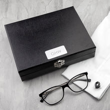 Load image into Gallery viewer, Black Cufflinks Box