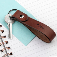 Load image into Gallery viewer, Leather Loop Keyring