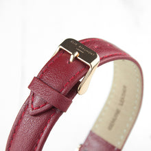 Load image into Gallery viewer, Ladies Berry Red Leather Watch