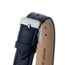 Load image into Gallery viewer, Navy & Silver Leather Watch