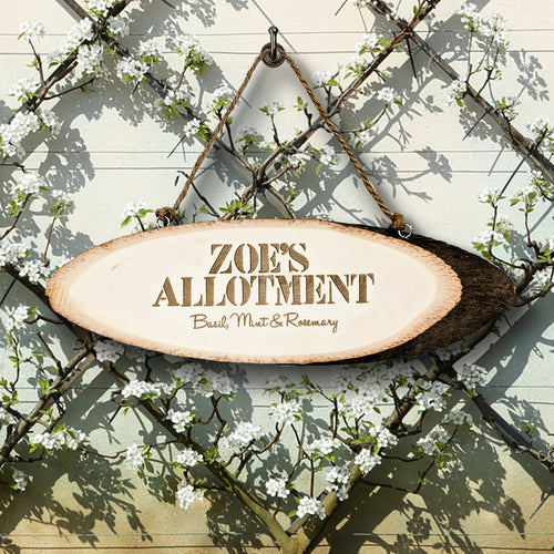 Rustic Allotment Sign