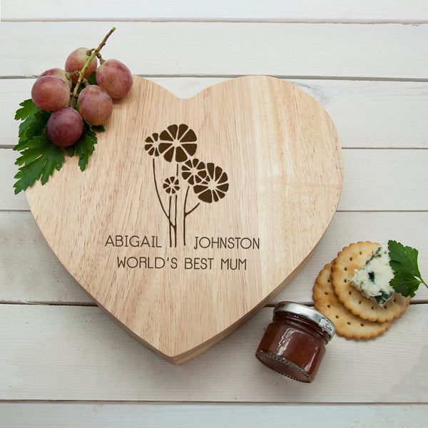 World's Best Mum Daisy Cheese Board