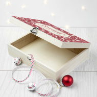 Load image into Gallery viewer, Christmas Eve Box With Festive Pattern