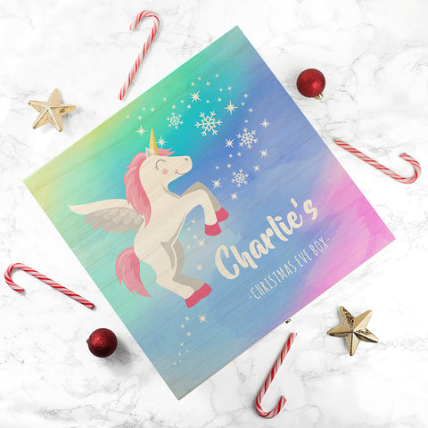 Colourful Pegasus Unicorn Christmas Eve Box