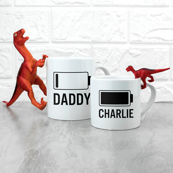 Daddy & Me Low Battery Mugs