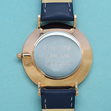 Load image into Gallery viewer, Ladies Navy Leather Watch