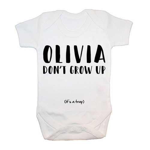 Don't Grow Up Baby Bodysuit