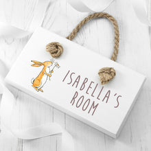 Load image into Gallery viewer, Flower Nutbrown Hare Door Sign