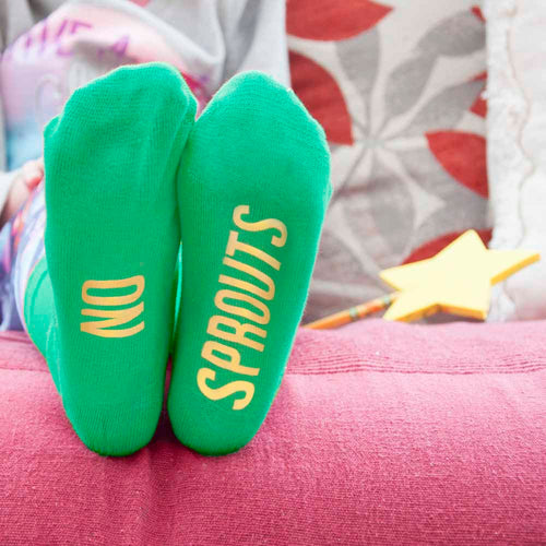 Children's Emerald & Canary Christmas Socks