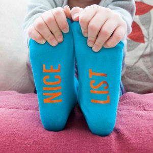 Children's Turquoise & Terracotta Christmas Socks
