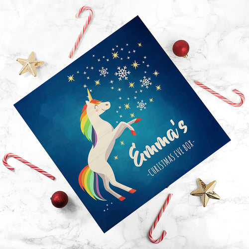 Rainbow Unicorn Christmas Eve Box