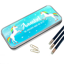 Load image into Gallery viewer, Rainbow Unicorn Pencil Case