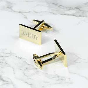 Rectangle Gold Plated Cufflinks