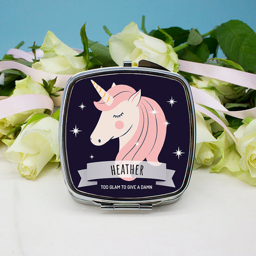 Sparkle Squad Square Navy Compact Mirror