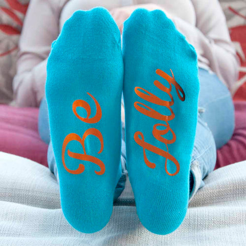 Adult Turquoise & Terracotta Christmas Socks