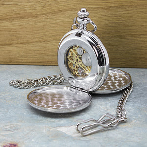 Dual Sided Golden Cut Out Pocket Watch