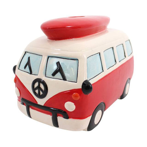 Red Campervan Money Box
