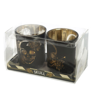 Skull Tea Light Holder Set of 2
