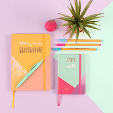 Load image into Gallery viewer, Make Your Own Sunshine A5 Lined Notebook