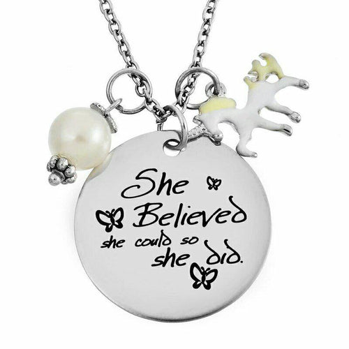 Unicorn 'Believe' Necklace