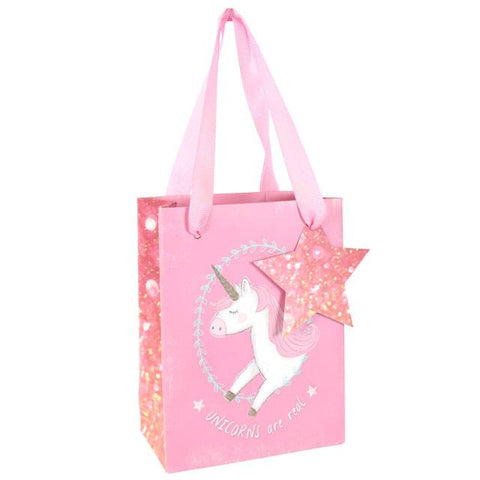 Pink Unicorn Small Gift Bag