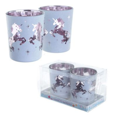 Unicorn Tea Light Holder Set of 2