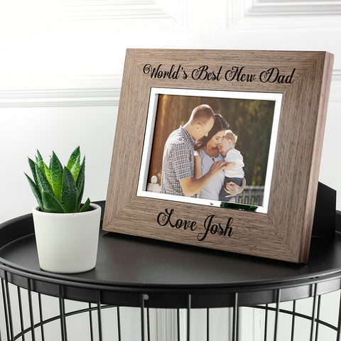 World's Best New Dad Wooden Frame