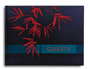 Cover of Blue Matte Guest Book Konig House Guest Books