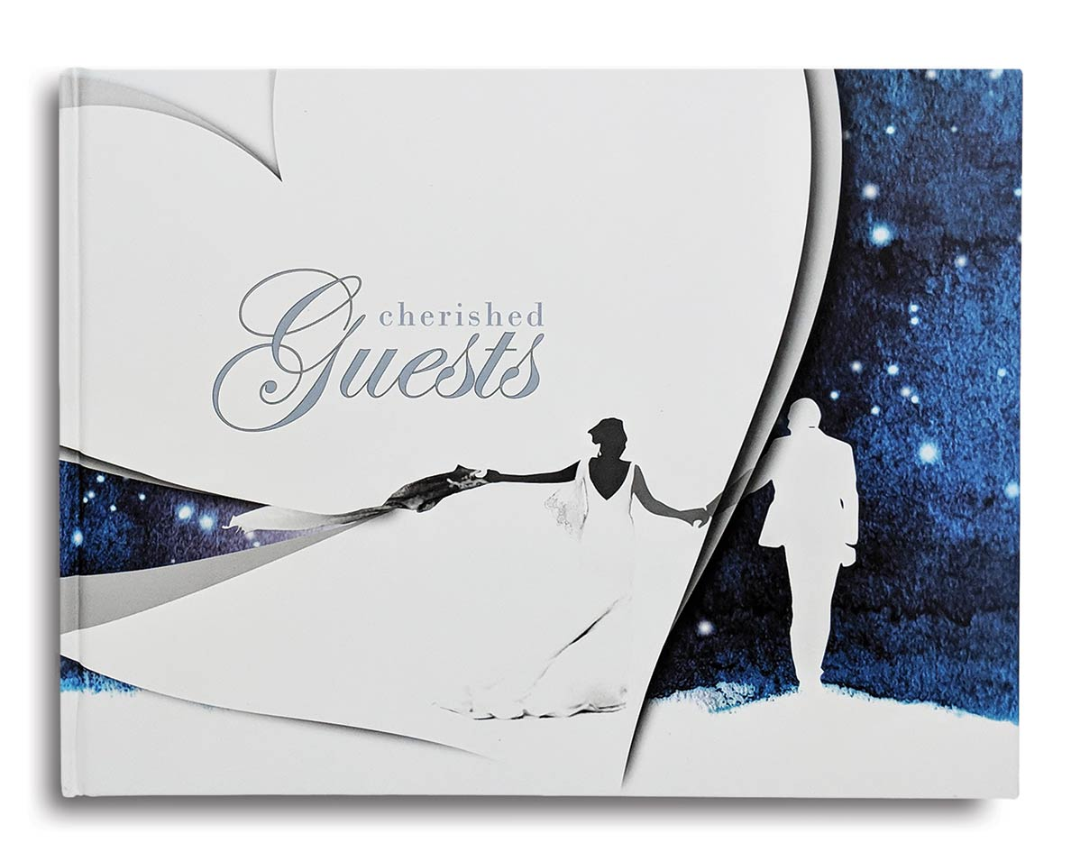 Cover of Cherished Guest Book by Konig House Guest Books