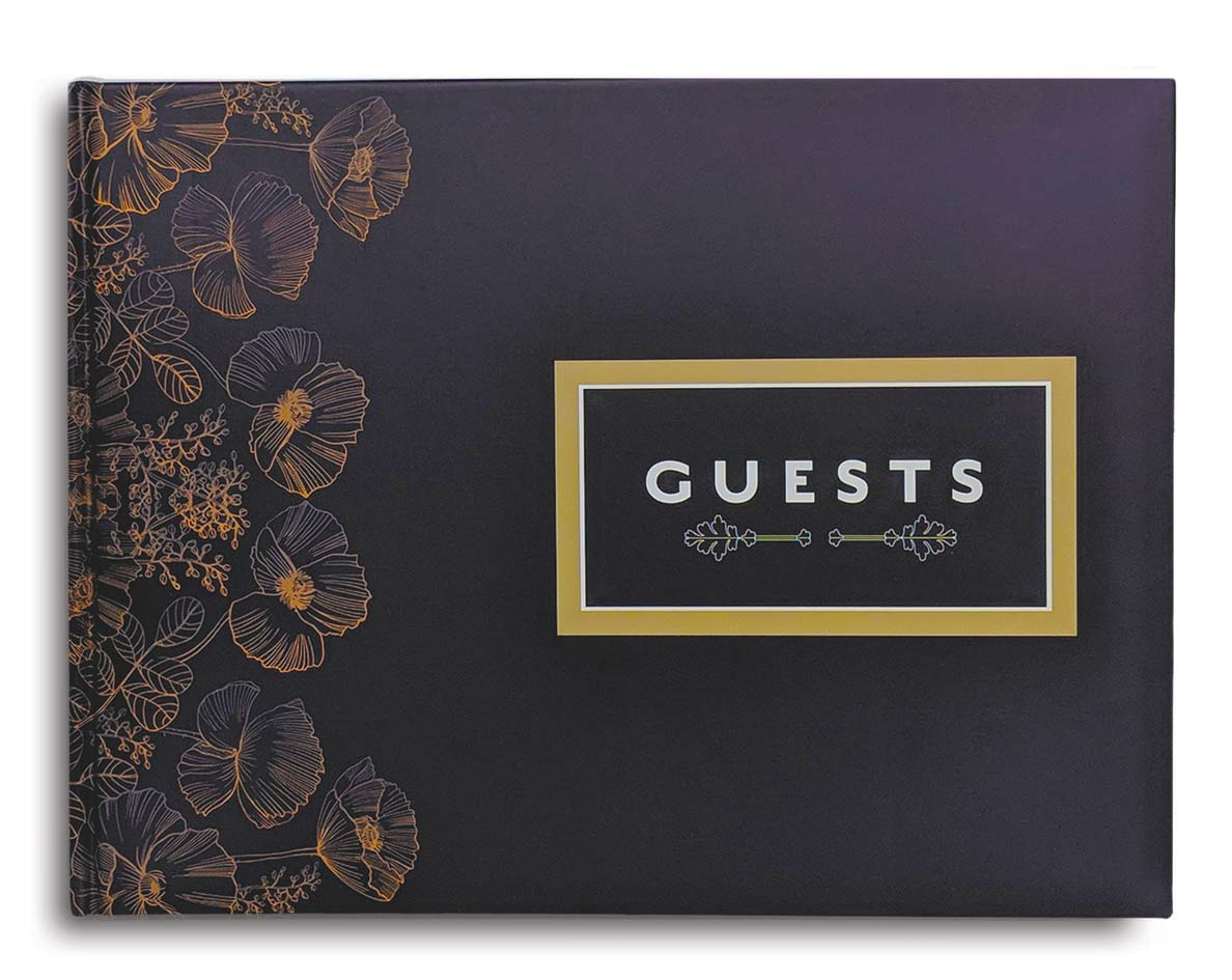 Cover of Slate Matte Guest Book Konig House Guest Books