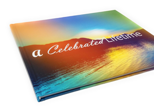 A Celebrated Lifetime - Funeral Guest Book, Memorial Guest Book, Registration Book, Condolence Book, Remembrance Book, Contemporary Matte Finish, Hard Cover