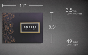 Dimensions of Slate Matte Guest Book Konig House Guest Books