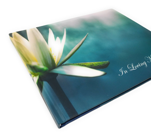 In Loving Memory - Funeral Guest Book, Memorial Guest Book, Registration Book, Condolence Book, Remembrance Book, Contemporary Matte Finish, Hard Cover