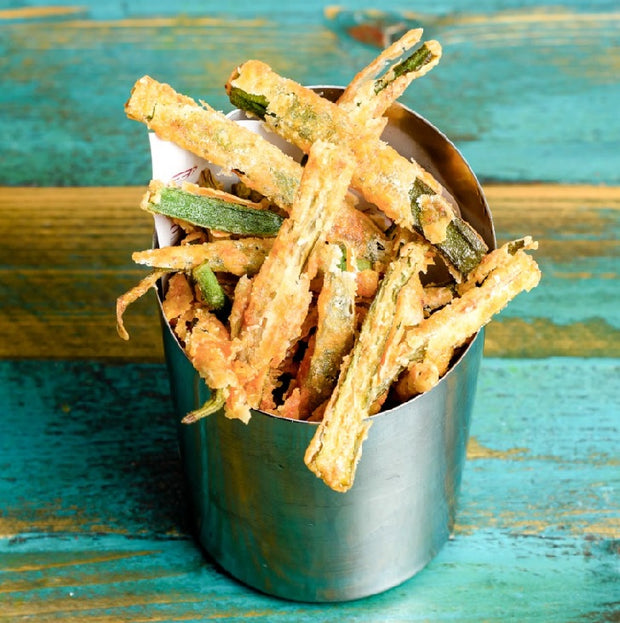 Vegan Okra Fries