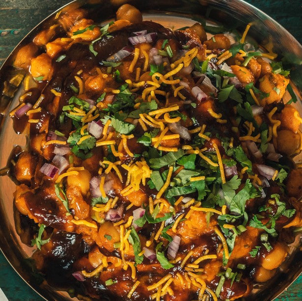Vegan Samosa Chaat