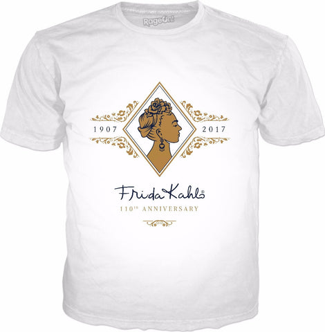 Frida Kahlo 110th Anniversary Gold & Classic White T-Shirt