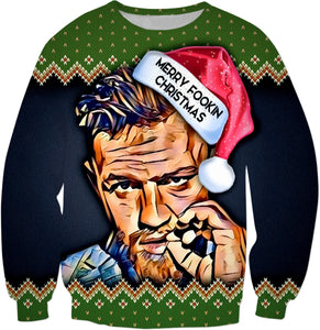 Merry Fookin Christmas Conor Mcgregor (Christmas Sweater)