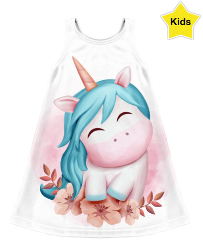 Peace Unicorn Kids Dress