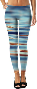 Water Leggings Blue And Gold