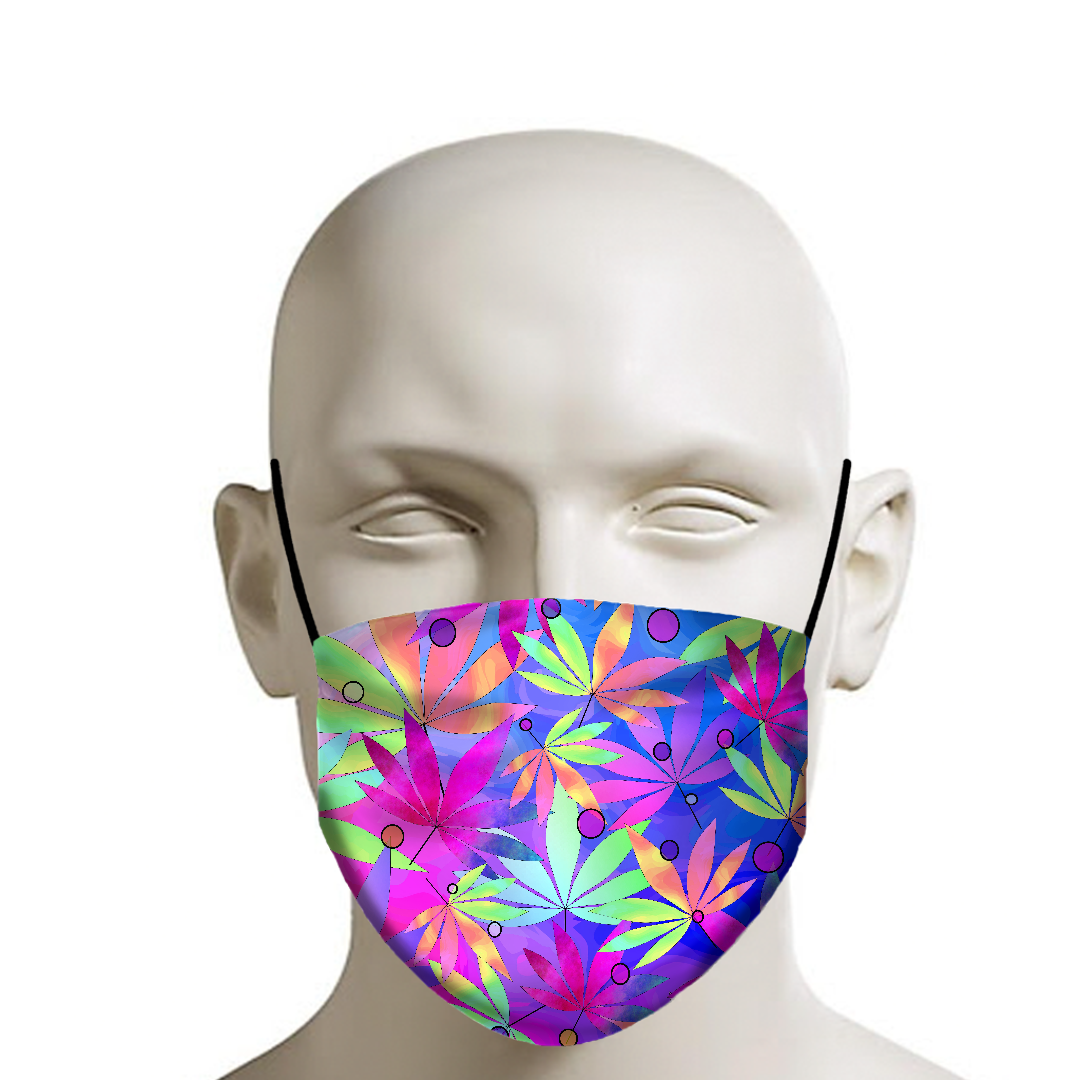 Whimsical Weed Face Mask