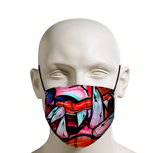 graff monster mouth face mask covid 19