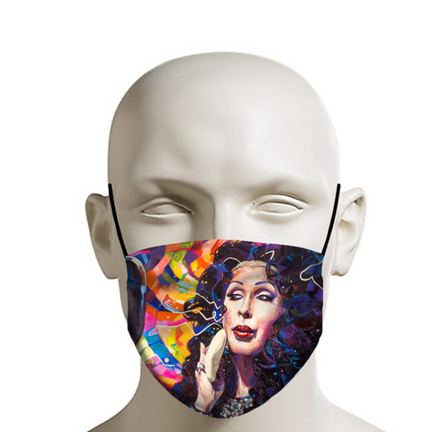 Cher Drag Queen Face Mask